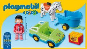 Auto s přívěsem pro koně (1.2.3) 6958 Playmobil Playmobil