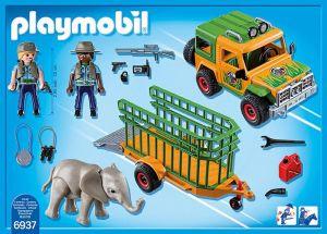 Auto strážců zvířat s přívěsem 6937 Playmobil Playmobil