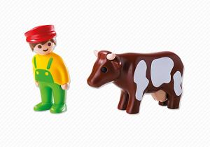 Farmář s kravičkou (1.2.3) 6972 Playmobil Playmobil