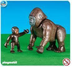 Gorila s mládětem 6201
