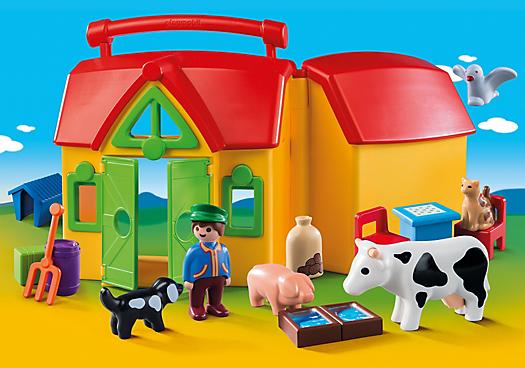 Přenosná farma (1.2.3) 6962 Playmobil Playmobil