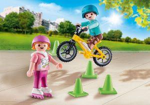 Děti s kolečkovými bruslemi a kolem 70061 Playmobil Playmobil