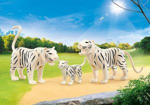 Dva bílí tygři s mládětem 9872