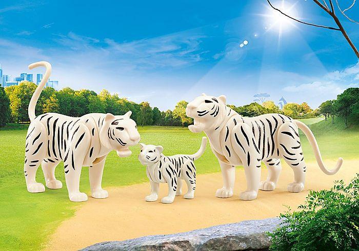 Dva bílí tygři s mládětem 9872 Playmobil Playmobil