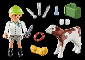 Veterinářka s telátkem 70252 Playmobil Playmobil
