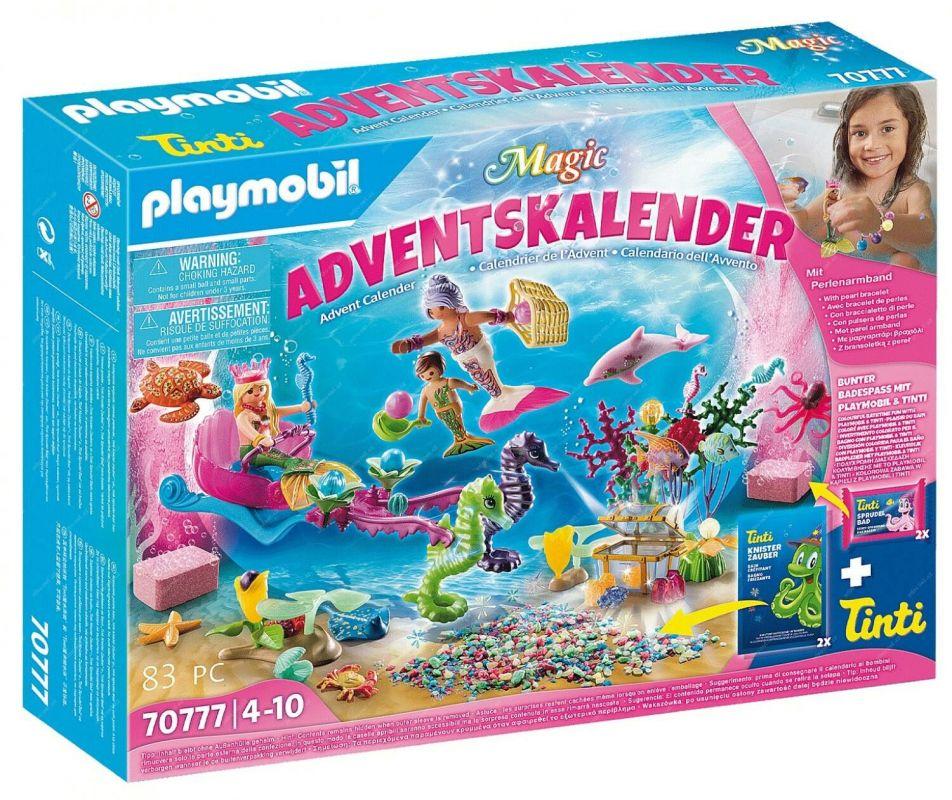 """Adventní kalendář """"Zábava ve vodě - Mořské panny"""" 70777 Playmobil Playmobil"""