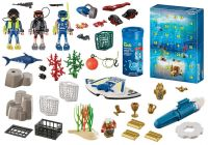 """Adventní kalendář """"Zábava ve vodě - Nasazení policejních potápěčů"""" 70776 Playmobil Playmobil"""