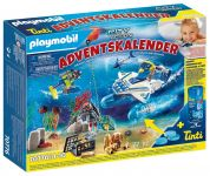 """Adventní kalendář """"Zábava ve vodě - Nasazení policejních potápěčů"""" 70776 Playmobil"""