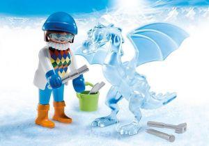 Umělkyně s ledovou sochou 5374