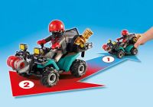 Čtyřkolka s navijákem 6879 Playmobil Playmobil