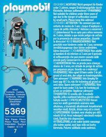 Policejní těžkooděnec se psem 5369 Playmobil Playmobil