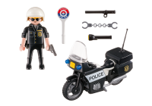 Přenosný kufřík - Policista s motorkou 5648 Playmobil Playmobil