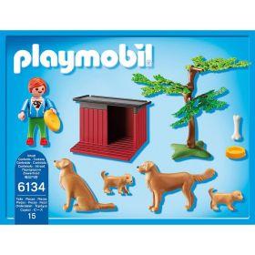 Zlatý retrívr se štěňaty 6134 Playmobil Playmobil