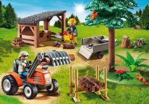 Dřevorubci s traktorem 6814