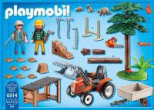 Dřevorubci s traktorem 6814 Playmobil Playmobil