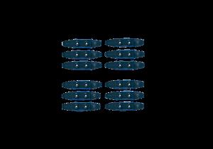 12 kolejových spojek 7358
