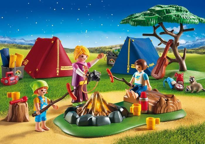 Stanový tábor s LED táborákem 6888 Playmobil Playmobil