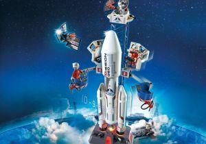 Vesmírná základna s kosmickou raketou 6195