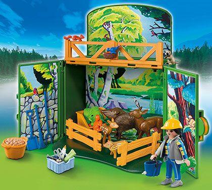 Zavírací box - Krmení lesní zvěře 6158 Playmobil Playmobil