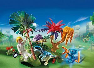 Ztracený ostrov s Alienem a Raptorem 6687 Playmobil Playmobil