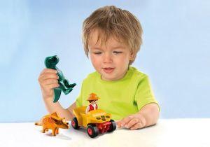 Dinosaurus a vědec na čtyřkolce (1.2.3) 9120 Playmobil Playmobil
