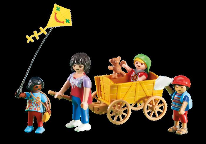 Matka s vozíkem a dětmi 6439 Playmobil Playmobil