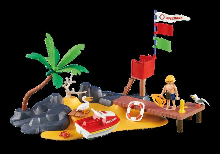 Pláž s vodním skútrem 6346 Playmobil Playmobil
