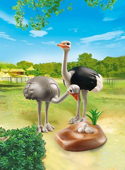 Pštrosí pár s hnízdem 6646 Playmobil Playmobil