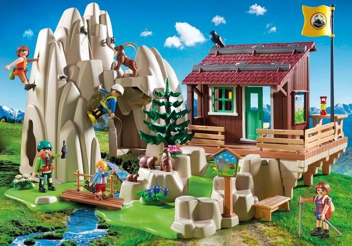 Horolezecká stěna s horskou chatou 9126 Playmobil Playmobil