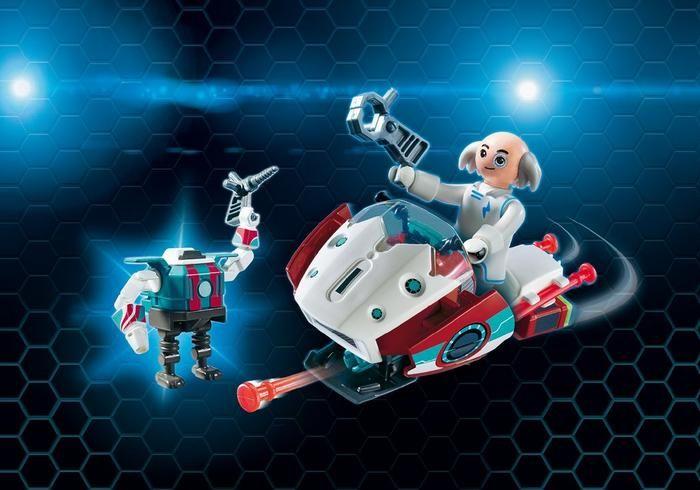 Létající Skyjet s Dr. X a Robotem 9003 Playmobil Playmobil