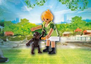 Ošetřovatelka s gorilím mládětem 9074 Playmobil Playmobil