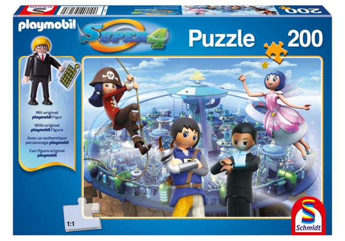 Puzzle Super4 - Technopolis 80709 Playmobil Playmobil