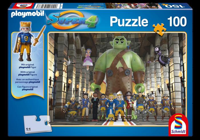 Puzzle Super4 - Země králů 80707 Playmobil Playmobil