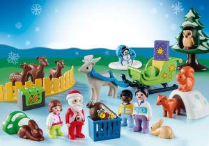 """Adventní kalendář """"Vánoce v lese (1.2.3)"""" 9391 Playmobil Playmobil"""