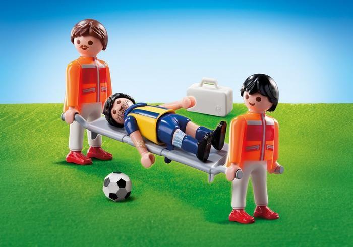Fotbalista na nosítkách 9826 Playmobil Playmobil