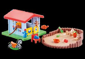 Hrací domeček s pískovištěm 9814