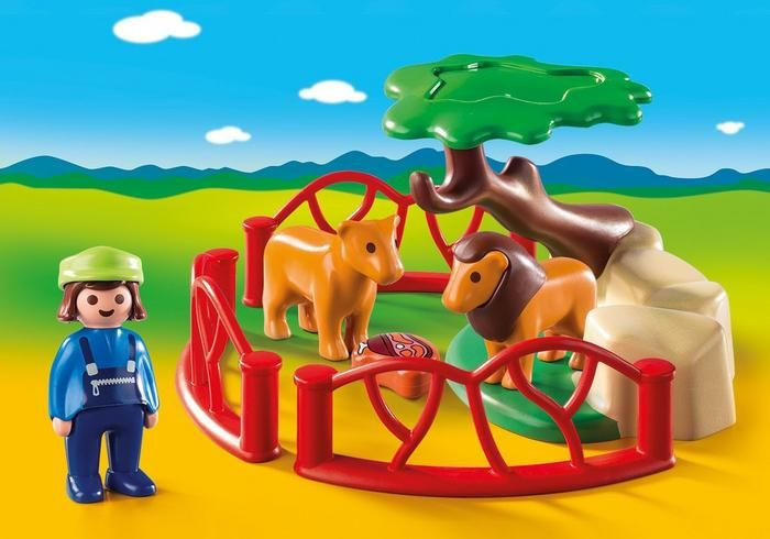 Lví výběh (1.2.3) 9378 Playmobil Playmobil