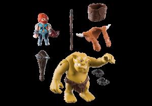 Obří Troll s batohem pro trpaslíka 9343 Playmobil Playmobil