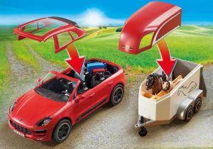 Porsche Macan GTS s přívěsem pro koně 9376 Playmobil Playmobil