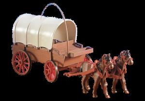 Vůz s koňmi 7648