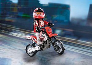 Závodník na motorce 9357