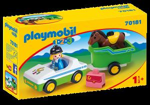 Auto s přívěsem pro koně (1.2.3) 70181 Playmobil Playmobil