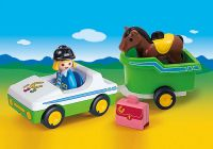 Auto s přívěsem pro koně (1.2.3) 70181