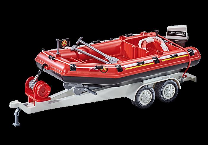 Hasičský člun s přívěsem 9845 Playmobil Playmobil