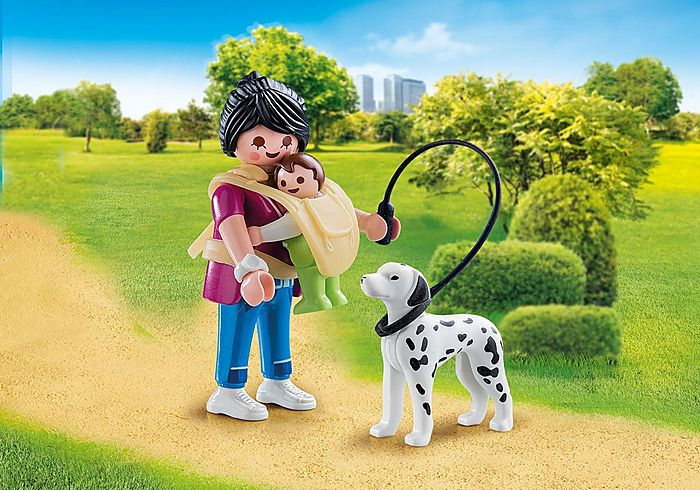 Maminka s dítětem a psem 70154 Playmobil Playmobil