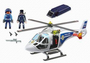 Policejní helikoptéra s LED světlometem 6921 Playmobil Playmobil