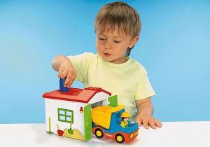 Vyklápěcí auto s garáží (1.2.3) 70184 Playmobil Playmobil