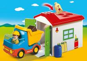 Vyklápěcí auto s garáží (1.2.3) 70184